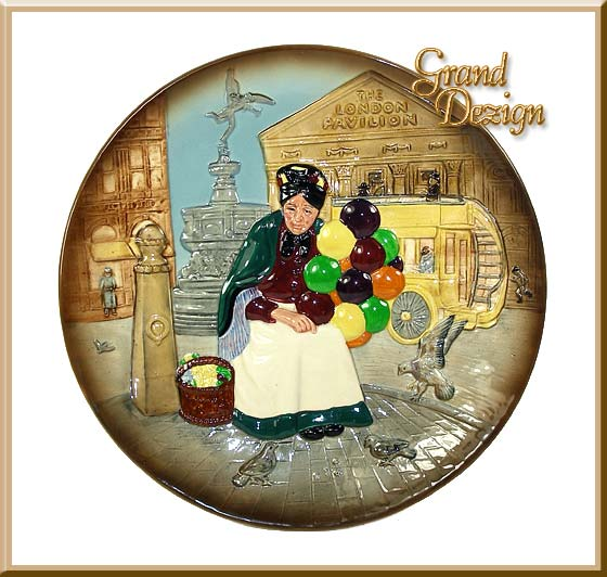 Old Balloon Seller Collectors Plate